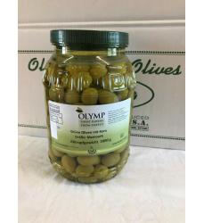 grüne Chalkidiki Oliven mit...