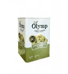 grüne Oliven ohne Kern größe Super Mamouth im 10kg Kanister