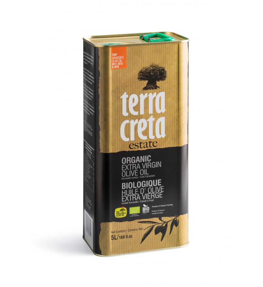 Terra Creta Biologisches Extra Natives Olivenöl höchster Güteklasse.